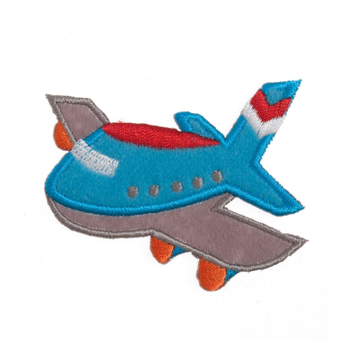Airplane Motif Iron Sew On Embroidered Applique - CFM2/062X
