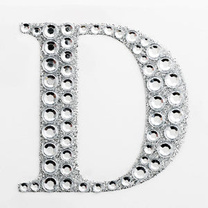 5cm Glitter / Diamante Rhinestone Craft Stickers - Letter D