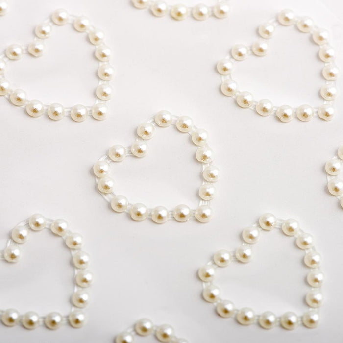 1.8cm Pearl Hearts - 18 Pack Craft Stickers