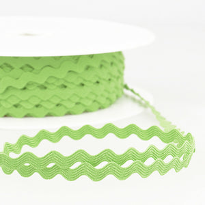 Anise Green - Stephanoise 8mm Ric Rac Ribbon - Braid Trim - Cut Lengths - Craft Essentials