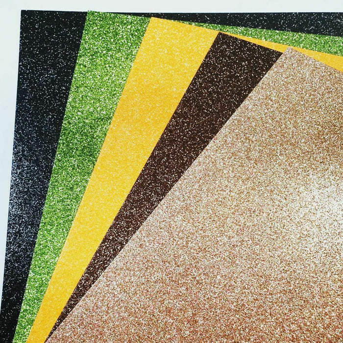 Autumn Mix  A4 Low Shed Glitter Cardstock Premium Quality - 250gsm