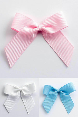 Baby Mix - Self Adhesive Pre Tied Bows - 5cm x 16mm Grosgrain Ribbon