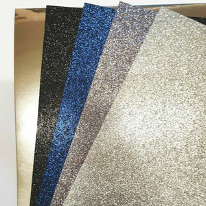 Blue Moon Mix A4 Low Shed Glitter Cardstock Premium Quality - 250gsm