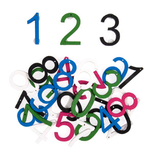 Craft For Occasions Coloured Wooden Numbers Craft Embellishments - 30 Pack - Button Blue Crafts