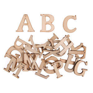 Craft For Occasions Natural Wooden Alphabet Craft Embellishments - 24 Pack - Button Blue Crafts