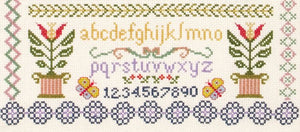 Anchor Counted Cross Stitch Kit - Traditional Sampler - Button Blue Crafts