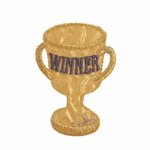 Winner's Trophy Motif - Iron Sew On - Embroidered Applique