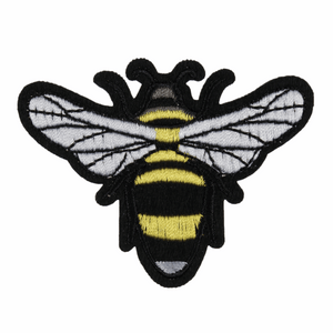 Bee Motif - Iron Sew On - Embroidered Applique