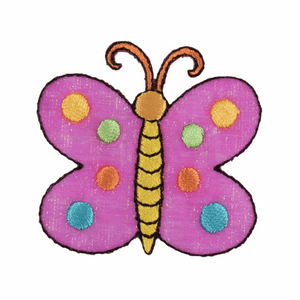 Butterfly Motif - Iron Sew On - Embroidered Applique