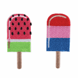 Ice Lollies Motif - Iron Sew On - Embroidered Applique