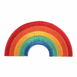 Rainbow Motif - Iron Sew On - Embroidered Applique
