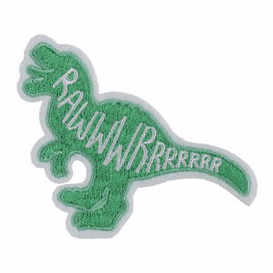 Rawr Dinosaur Motif - Iron Sew On - Embroidered Applique