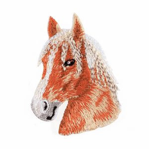 Horse Head Motif - Iron Sew On - Embroidered Applique