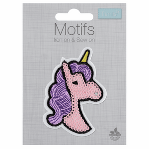 Unicorn Sequin Motif - Iron Sew On - Embroidered Applique