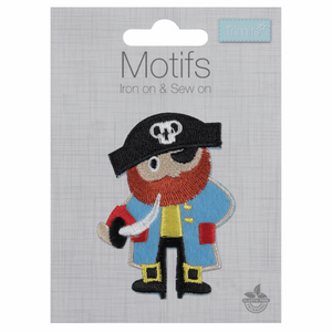 Pirate Motif - Iron Sew On - Embroidered Applique