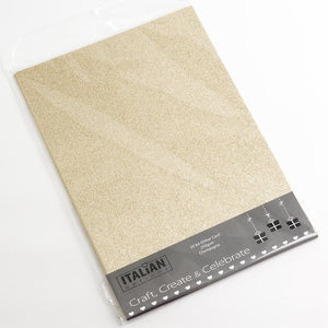 Champagne Gold A4 Low Shed Glitter Cardstock Premium Quality - 250gsm - Button Blue Crafts