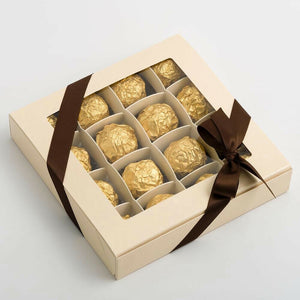 Large Chocolate Box - Cream - Wedding Favour Handmade Sweets Christmas Gift
