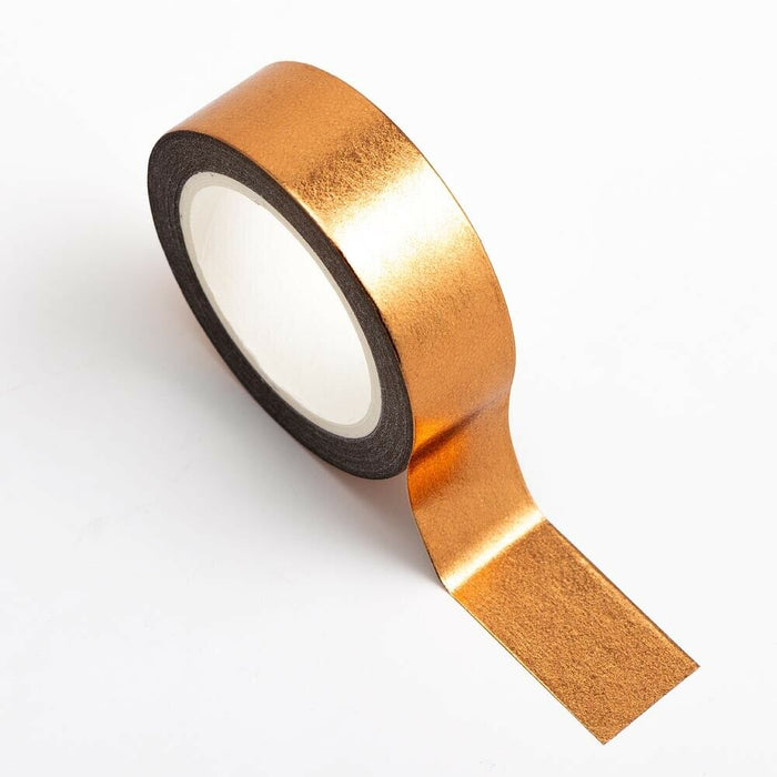 Copper - Foil Washi Tape 15mm x 10m Repositionable Adhesive Roll