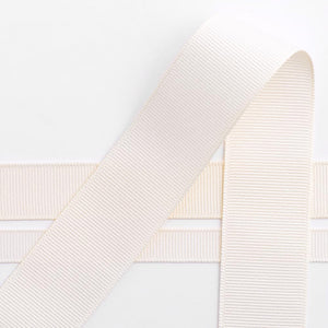 Cream Grosgrain Ribbon - 10mm, 16mm, 25mm, 38mm - Button Blue Crafts