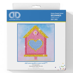 Home Sweet Home - Diamond Dotz Complete Diamond Painting Facet Art Kit - Button Blue Crafts