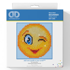 Wink Wink - Diamond Dotz Complete Diamond Painting Facet Art Kit - Button Blue Crafts
