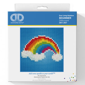 Ever Living Rainbow - Diamond Dotz Complete Diamond Painting Facet Art Kit - Button Blue Crafts