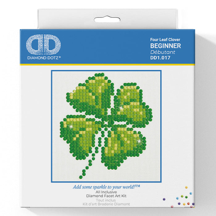 Four Leaf Clover - Diamond Dotz Complete Diamond Painting Facet Art Kit