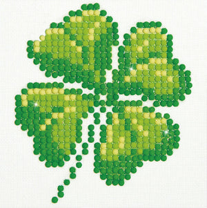 Four Leaf Clover - Diamond Dotz Complete Diamond Painting Facet Art Kit - Button Blue Crafts