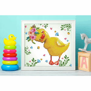 Diamond Dotz - Daisy - Duckling - 5d Diamond Crystal Painting Kit 33cm x 31cm