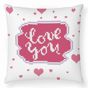 Diamond Dotz - Love You - Cushion - 5d Diamond Crystal Painting Kit 18cm x 18cm