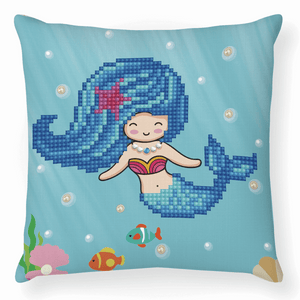 Diamond Dotz - Pearl Swimmer - Cushion - 5d Diamond Crystal Painting Kit 18cm x 18cm