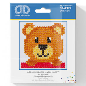 Mr Handsome - Diamond Dotz Complete Diamond Painting Facet Art Kit - Button Blue Crafts
