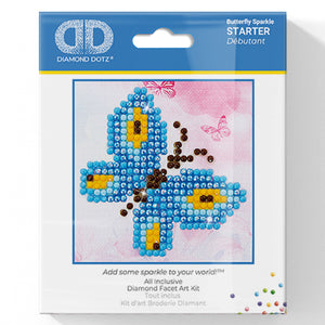 Butterfly Sparkle - Diamond Dotz Complete Diamond Painting Facet Art Kit - Button Blue Crafts