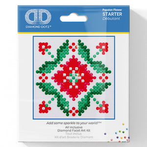 Passion Flower - Diamond Dotz Complete Diamond Painting Facet Art Kit - Button Blue Crafts