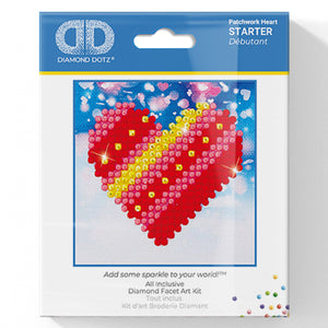Patchwork Heart - Diamond Dotz Complete Diamond Painting Facet Art Kit