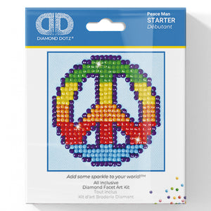 Peace Man - Diamond Dotz Complete Diamond Painting Facet Art Kit