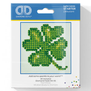 Lucky Leaves - Diamond Dotz Complete Diamond Painting Facet Art Kit - Button Blue Crafts