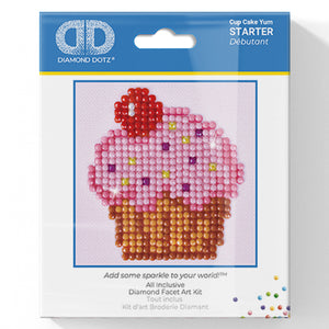 Cup Cake Yum - Diamond Dotz Complete Diamond Painting Facet Art Kit - Button Blue Crafts