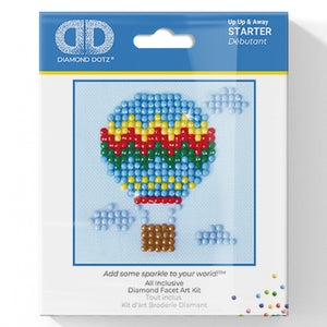 Up Up & Away - Diamond Dotz Complete Diamond Painting Facet Art Kit - Button Blue Crafts