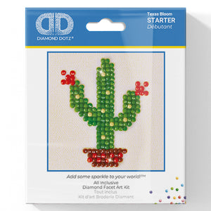 Texas Bloom - Diamond Dotz Complete Diamond Painting Facet Art Kit - Button Blue Crafts
