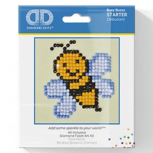 Busy Buzzz - Diamond Dotz Complete Diamond Painting Facet Art Kit - Button Blue Crafts