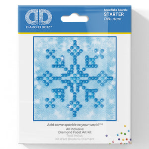 Snowflake Sparkle - Diamond Dotz Complete Diamond Painting Facet Art Kit