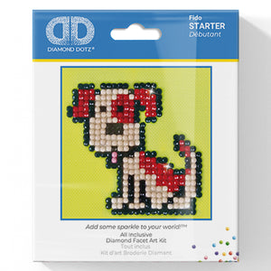 Fido - Diamond Dotz Complete Diamond Painting Facet Art Kit - Button Blue Crafts