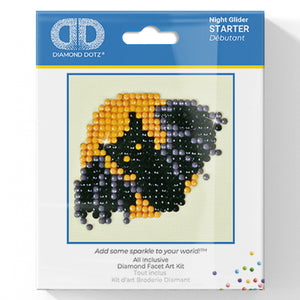 Night Glider - Diamond Dotz Complete Diamond Painting Facet Art Kit - Button Blue Crafts