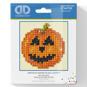 Happy Halloween - Diamond Dotz Complete Diamond Painting Facet Art Kit - Button Blue Crafts