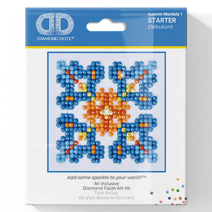 Autumn Mandala 1 - Diamond Dotz Complete Diamond Painting Facet Art Kit