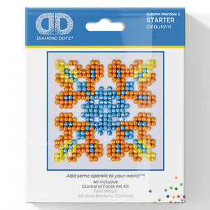 Autumn Mandala 2 - Diamond Dotz Complete Diamond Painting Facet Art Kit - Button Blue Crafts