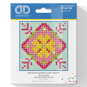 Patchwork Mandala 1 - Diamond Dotz Complete Diamond Painting Facet Art Kit
