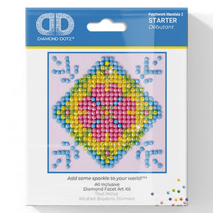 Patchwork Mandala 2 - Diamond Dotz Complete Diamond Painting Facet Art Kit - Button Blue Crafts