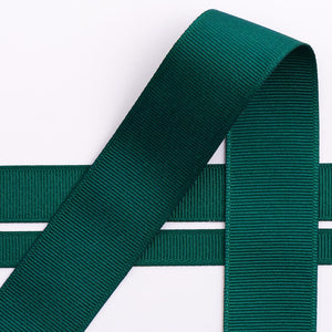 Dark Green Grosgrain Ribbon - 10mm, 16mm, 25mm, 38mm - Button Blue Crafts